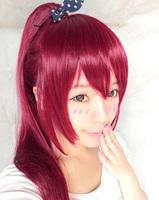 Gou Matsuoka Burgundy 65cm chip ponytail cosplay anime wig,cosplay party wig
