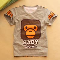 Wholesale summer new boy cartoon cotton t-shirt Kids Korean children's clothing a generation of fat children sleeved Hot