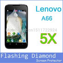 5pcs cellphone lenovo a66 screen film.mobile phone Diamond Flashing lenovo a66 screen protector.lenovo phone film free shipping