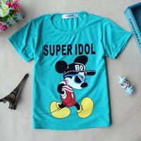 2014 Korean version of the hot new summer children's clothing children's cotton short-sleeved t-shirt shirt fashion clothing