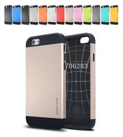 SGP SPIGEN SLIM ARMOR Cover for iphone 6, 4.7'' Case Double Color Hard Back Shell PC+TPU 12 Colors