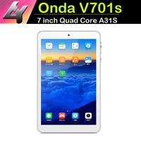 Hi-Q Stabilize Tablet pc Onda V701s Quad Core 7 inch 1024x600 screen Allwinner A31S Android 4.2