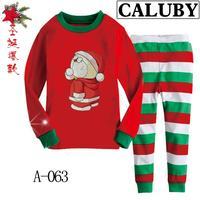2014 autumn / winter Christmas Frozen 2-7T BABY & kids Clothing 2 piece suit Pyjamas Cartoon Viking Cotton Homewear 063