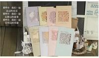 WISH-1305 Mini 3D DIY greeting card for ,thanksgiving,birthday,Invitation Card 115*207mm 100pcs/lot+free shipping