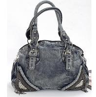 2014 New Hot Sale Women's Large Tassel Denim Punk Bags Shoulder Bag Tote Bag Fashion Unique Vintage Design Bolsa De Ombro