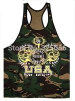 Hot Sell New NPC Camouflage Tank Top Men Sleeveless Vest 100% cotton Boys Bodybuilding Clothing Sport Undershirt High Quality