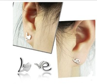 Order $16 automatically free shipping,hot sales letter love  earring ,hight quality  ,nice gift for woman