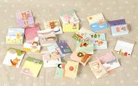MINI-1109 Mini 3D DIY greeting card for birthday,Invitation Card,blessing card 60*70mm 100pcs/lot+free shipping