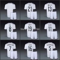 OZIL REUS GOTZE MULLER PODOLSKI home soccer jerseys and short 2014 BECKENBAUER SCHWEINSTEIGER uniforms