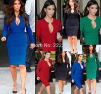 2014 Hot Autumn Long Sleeve Women Dresses femininas Vestidos Casual Free Shipping