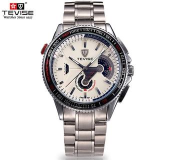 Tevise сапфир зеркало 7960 гонки машина серии полный стали автоматические механические часы мужские роскошные водонепроницаемый наручные часы