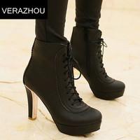 2014 Autumn Winter Martin boots New Sequins Plus size 40 41 42 43 Ankle boots heels Shoes woman Platform Pumps High heel Brand