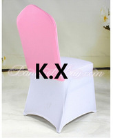 Pink Color Whlosale Price Chair Hood For Lycra Chair Cover