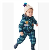 2014 new free shiiping Children's outdoor 3-proof fabric skiing Professional Ski suit Warm