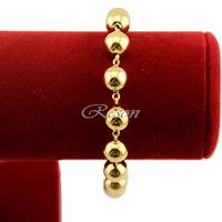 1pcs Men Women Boys 18K Gold Filled BIG Beads Bracelet Chain Wristband