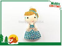 Hot Sale !!!  53MM*25MM 10pcs/lot  New  Cinderella Rhinestone Pendants ,Necklace Pendants For Kids Jewelry