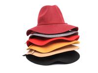 6pcs/lot Winter Vintage 100% woolen fedora hats church hat fedora felt cap for women men Wholesale Free shipping