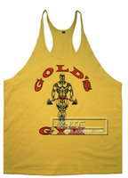 High quality New Men's Gold's Gym Tank Top  Boys Bodybuilding Clothing Sport Undershirt Men Sleeveless Vest 100% cotton