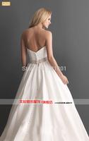 The bride a line wedding dresses new 2015 European and American retro Bra sexy wedding dress vestido de casamento vestido