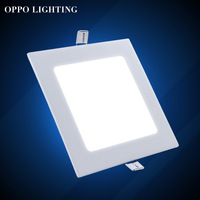 12w square warm/cold white LED panel light suspended SMD Epistar ceiling recessed spot lamps for Home/Kitchen/Bathroom