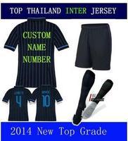 A+++ Kovacic Hernanes Palacio KIT Suit Set Shirt Sock Short 2015 14 15 Men Futbol Soccer Jersey Thailand Shirt