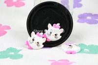 Wholesale lovely Chammy cat  FlatBack Resins Scrapbooking Embellishment 50pcs