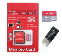 Free Shipping 64GB Memory Card Micro SD Card Class 10 Flash Microsd SDHC TF Adapter USB Reader MicroData Hot