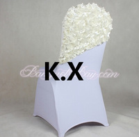 Satin Rosette Chair Cap Used For Spandex Chair Cover
