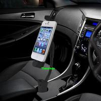 Car Cigarette Lighter Mount Mobile Phone Holder Direct Charger for iphone 5S 5C 5