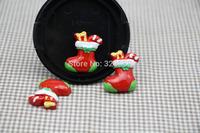 Wholesale lovely  Christmas socks FlatBack Resins Scrapbooking Embellishment 50pcs