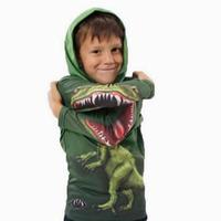 003 2014 Autumn Winter Hot 3D Lifelike Dinosaur Cotton Long Sleeve Hooies For Boy  / Casual Sport Children Hoody T-Shirt Clothes