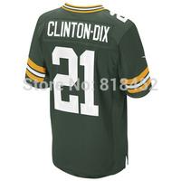 Free shipping 2014 Draft mens American football jerseys Green Bay 21 Ha Ha Clinton-Dix Elite Stitched Jersey