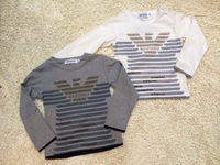 Wholesale 2014 New brand fashion Baby&Boy's autumn casual T-shirt/Children's long sleeve O-Neck sports clothing+free shipping