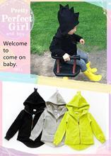 New 2014  The dinosaur hoodies kids jackets & coat boys girls outerwear baby spring autumn winter Long sleeve sweatshirts(China (Mainland))