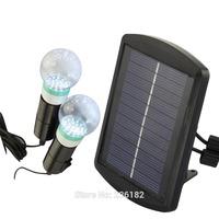 2pcs/lot Wall sunlight Solar Powered LED Light Outdoor Security Light Wall Park lamp Garden solar lamp