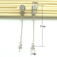 Free shipping 925 sterling silver post stud earrings Finding for pearl jewelry-making,earring findings&components. 2pair/lot