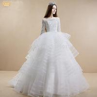 lace half wedding dresses Korean version of the new 2015 winter bride ball gown wedding dress vestido de noiva curto 445