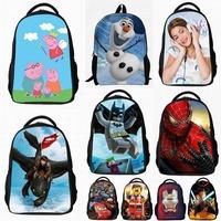 Peppa pig Frozen Lego violetta Spider man Anime Backpacks Kids students children School Bags travel kindergarten satchels