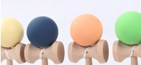 Rubber Paint Kendama Toy Japanese Traditional Wood Game Kids Toy Made of Beech