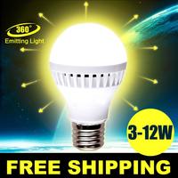 Wholesale 100pcs/lot E27 110V Led Light Bulb 3W 5W 7W 9W 10W 12W 15W LED Bulb Lamp  Cold Warm White Led Spotlight Free Shipping