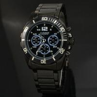 Lowest Price CURREN Brand Men Military Watch Fashion Men Quartz Adjustable men Sports Watches Black Steel Men Watch Casual Reloj