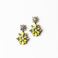 Free Shipping Korean version of the yellow gemstone earrings drop earrings spike bohemia drop earrings