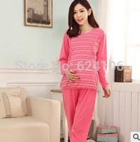 New Arrivals Woman sleepwear nightgown breast feeding maternity nursing pajamas pregnant clothes