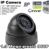 Security IP Camera 1.3 Megapixel ONVIF 960P Full HD  Dome CMOS Sensor Night Vision P2P Free Shipping