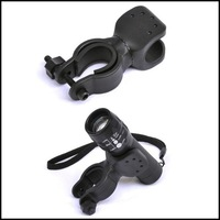 Bicycle Bike Flashlight LED Torch Mount Holder 360 degree Rotation Cycling Clip Clamp Black color [#100080,YW]
