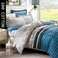 100% Pure Cotton 4pcs bedding set queen size bed linen bed sheet set Bed clothes& duvet cover flat sheet pillowcases #CQ15-1