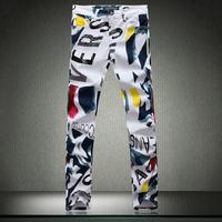 Free Shipping Jeans Hot Fashion GYM Mens Printed Jeans Men Jeans 2014 New Fashion Designer Famous Brand Denim pants jp209-HV068