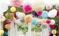 10'' 150pcs Flowers Ball Baby House Hanging Flowers Birthday Hanging Decoration Ball Pom Wedding Poms Ball