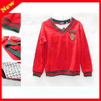 Boy fall wear round neck long sleeve T-shirt 3-7 years,childrens tee t-shirts,long sleeve t shirts for kids S-XXL Red,white,blue