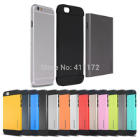 Newest Hybrid Hard Champagne Gold PC+Silicone SGP SPIGEN Slim Armor Case Cover Shell for iPhone 6 6G Air 4.7 inch 200pcs/lot